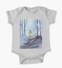 From silvery woods there comes a call - Log cabin décor  One Piece - Short Sleeve