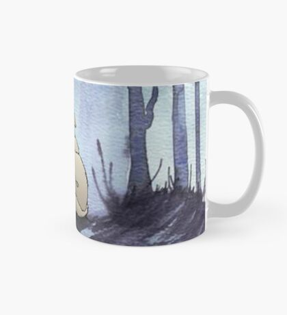 From silvery woods there comes a call - Log cabin décor  Mug