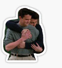 joey chandler hug Sticker