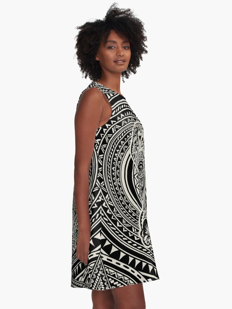 Alternate view of Polynesian Dachshund A-Line Dress