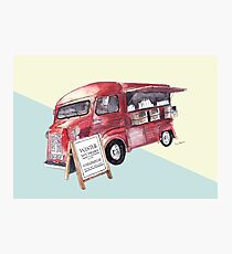 Cafe Truck - Edinburgh, Scotland Photographic Print