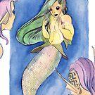 MerMay Angry Merfolk Mid Conversation Watercolor by SimplyKitt