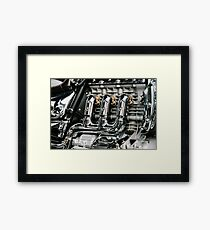 Motorcycle Chrome Engine Block Framed Print
