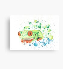 Grüner Frosch Canvas Print