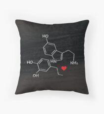 Geeky Love Chemistry. Serotonin + Dopamine Throw Pillow
