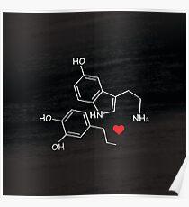 Geeky Love Chemistry. Serotonin + Dopamine Poster