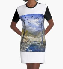 A river in Africa Graphic T-Shirt Dress