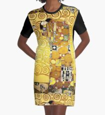 Gustav Klimt The Embrace Graphic T-Shirt Dress