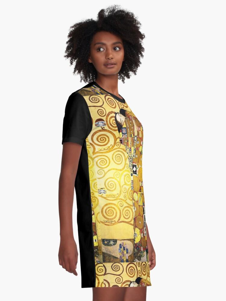 Alternate view of Gustav Klimt The Embrace Graphic T-Shirt Dress