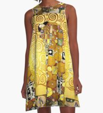 Gustav Klimt The Embrace A-Line Dress