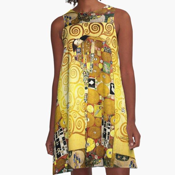 Gustav Klimt The Embrace A-Line Dress