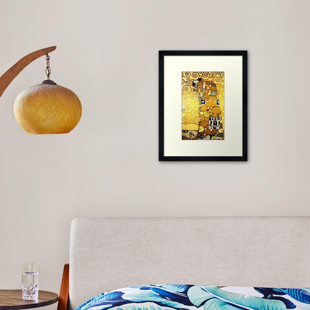 Gustav Klimt The Embrace Framed Art Print