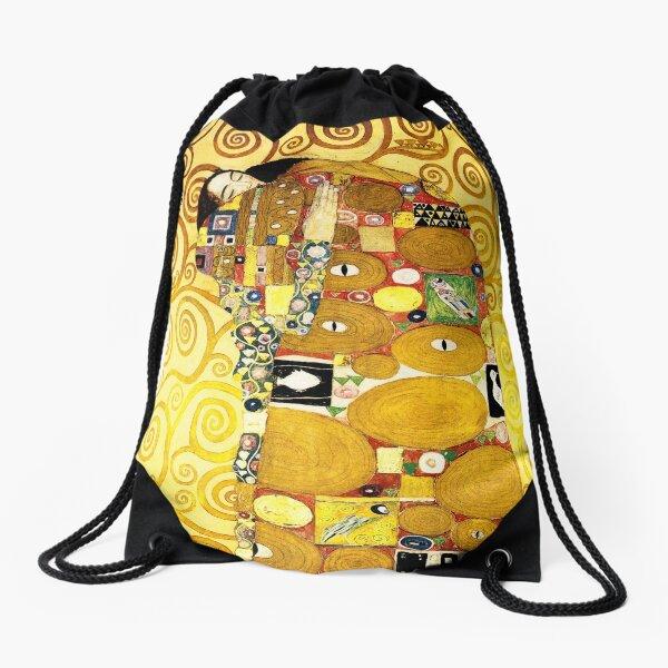 Gustav Klimt The Embrace Drawstring Bag