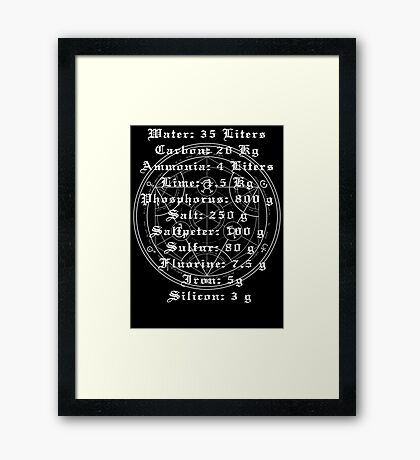 FMA Transmutation Framed Print