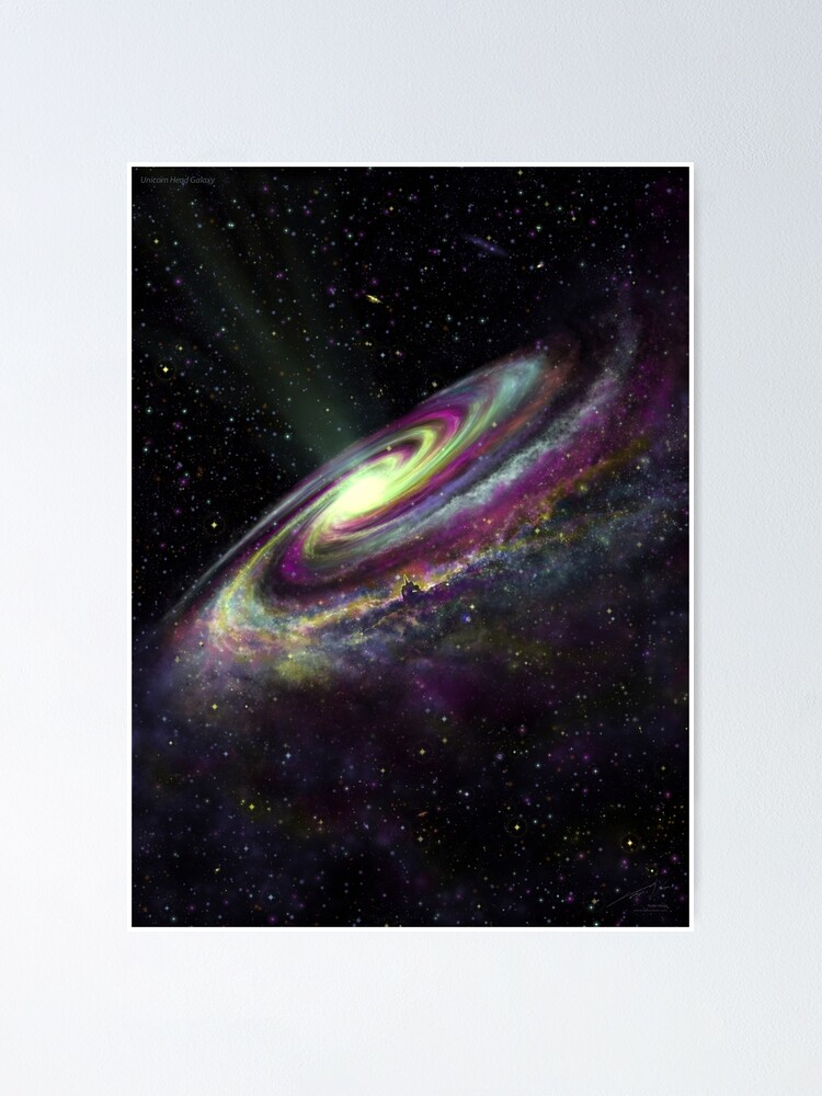 Alternate view of Unicorn Head Galaxy Poster