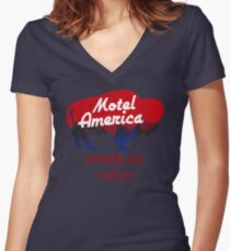 Motel America - Home of the Gods (in high resolution) Women's Fitted V-Neck T-Shirt