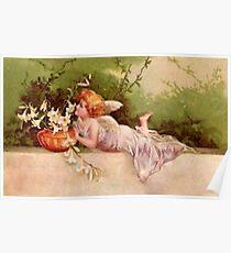 Vintage Garden Fairy Poster
