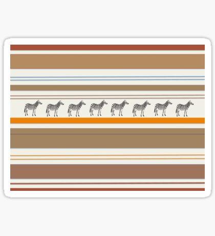 Lodge décor - Zebra safari light-coloured Mix & Match throw pillow Sticker