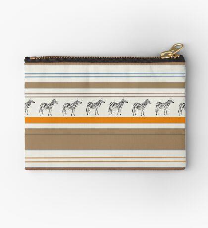Lodge décor - Zebra safari light-coloured Mix & Match throw pillow Zipper Pouch