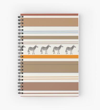 Lodge décor - Zebra safari light-coloured Mix & Match throw pillow Spiral Notebook