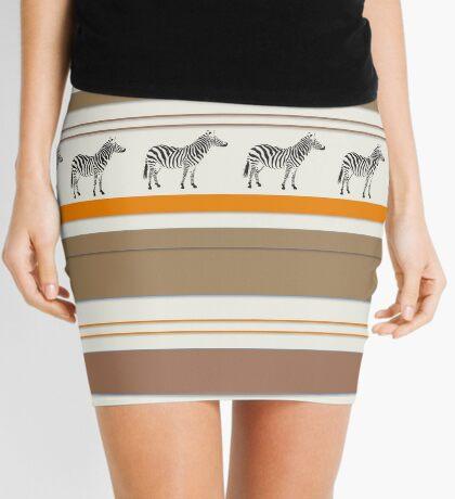Lodge décor - Zebra safari light-coloured Mix & Match throw pillow Mini Skirt