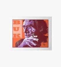 Charles Bukowski - PopART Art Board Print