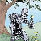 Robot admiring the Flowers by Colin Wells
