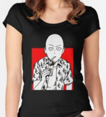one punch man merchandise Women's Fitted Scoop T-Shirt