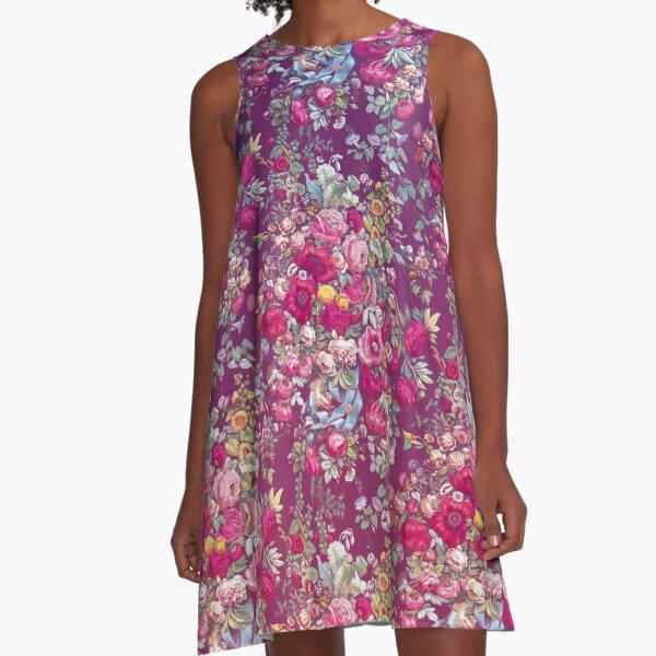 Bouquety A-Line Dress