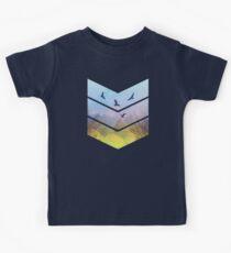 Eagles, Mountains, Grunge Landscape Kids Clothes