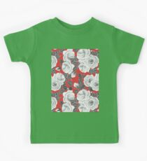 White roses watercolor pattern Kids Tee