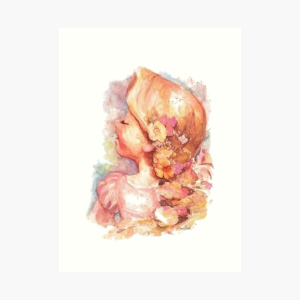Tangled Watercolor Art Print