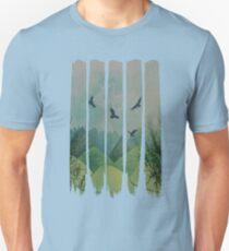 Eagles, Mountains, Grunge Landscape Unisex T-Shirt