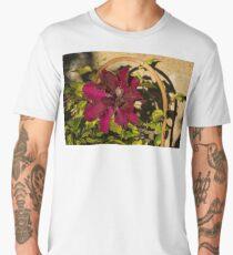Velvety Hot Summer - Cardinal Clematis in the Sunshine Men's Premium T-Shirt