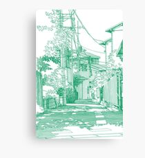 Manga background 01 Canvas Print