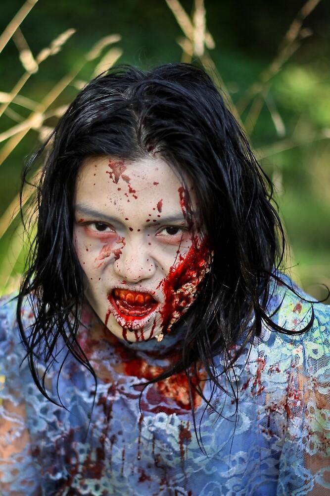 Portrait of a Zombie by journeysincolor