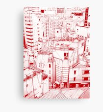 Manga background 03 Canvas Print