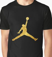 Gold Jordan Logo Graphic T-Shirt