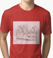 Alice in the  rose gold - Alice's tea party Tri-blend T-Shirt