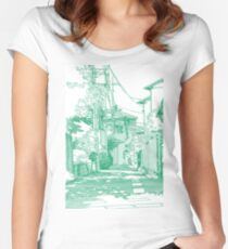 Manga background 01 Women's Fitted Scoop T-Shirt