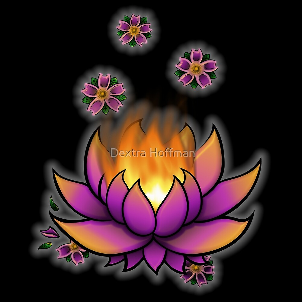 Flaming Lotus by Dextra Hoffman
