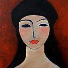 Girl with beret by nelly  van nieuwenhuijzen