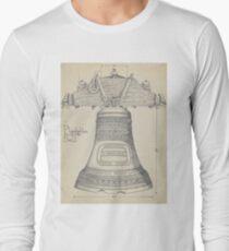 Fontainbleau Plantation Bell - Thomas Byrne - Vintage Architecture Long Sleeve T-Shirt