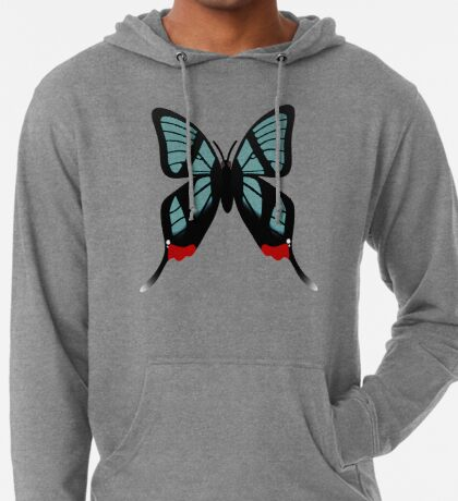 Glasswing Swallowtail Butterfly Lightweight Hoodie