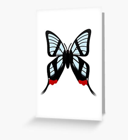 Glasswing Swallowtail Butterfly Greeting Card