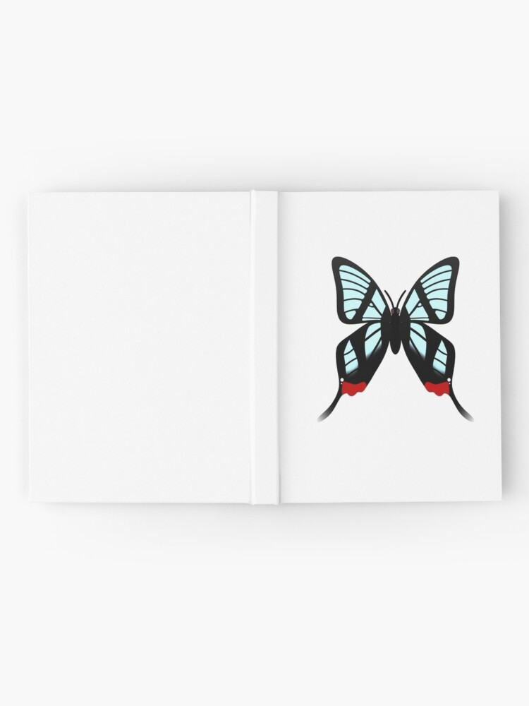 Alternate view of  Glasswing Swallowtail Butterfly Hardcover Journal