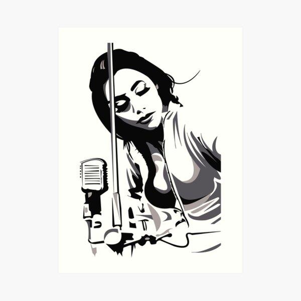 PJ Harvey (fan art vector illustration) Art Print