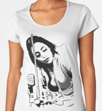 PJ Harvey (fan art vector illustration) Premium Scoop T-Shirt