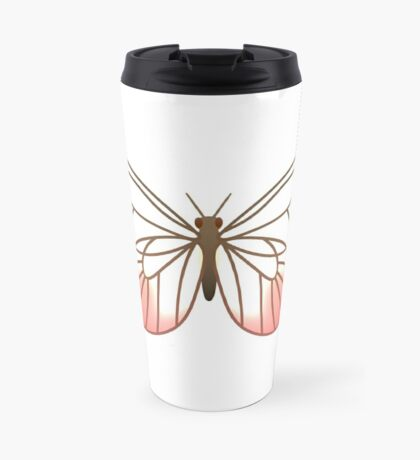Pink Glasswing Butterfly Travel Mug