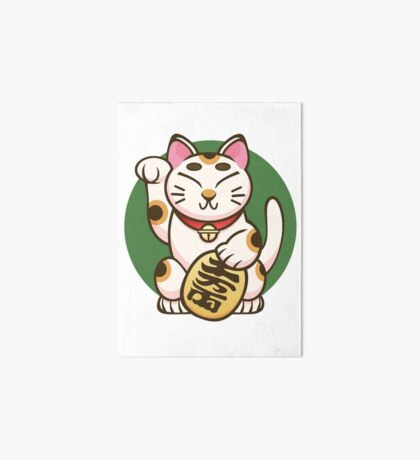 Lucky Kitty Art Board Print